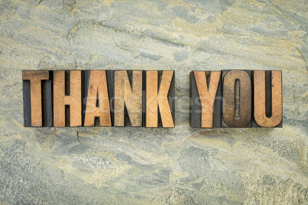 thank you in wood type Stock photo © PixelsAway