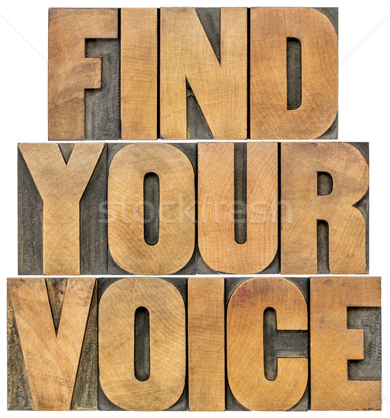 find your voice Stock photo © PixelsAway