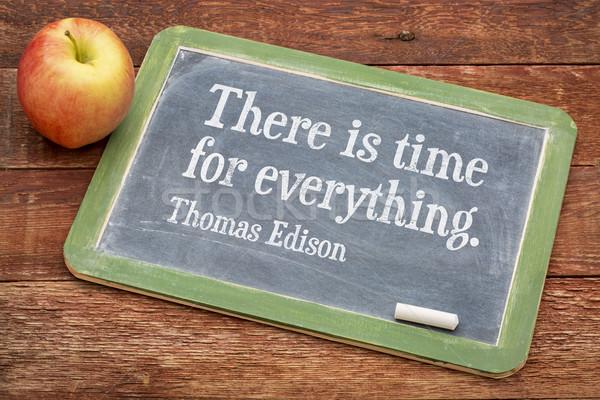 motivational quote by Thomas Edison Stock photo © PixelsAway