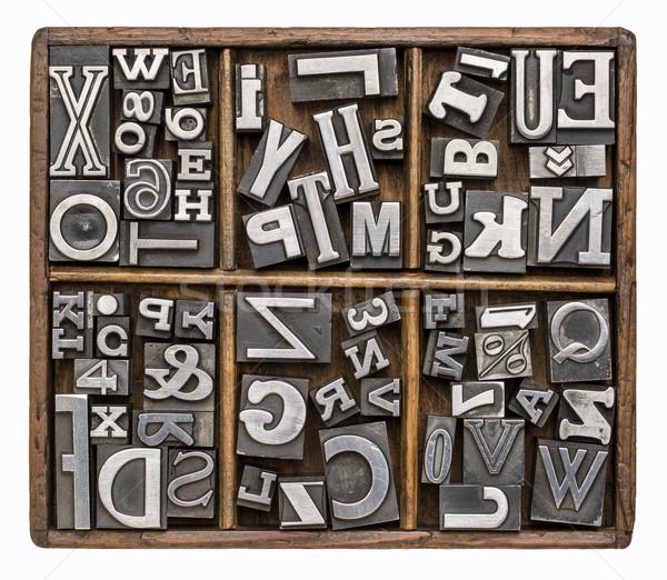 metal type alphabet Stock photo © PixelsAway