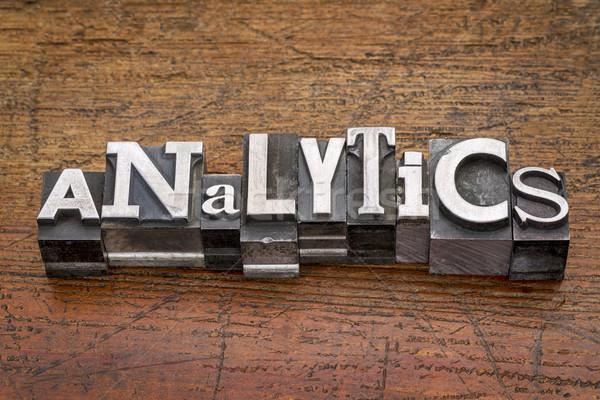 analytics word in metal type Stock photo © PixelsAway