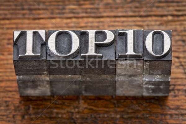 top 10  in metal type Stock photo © PixelsAway