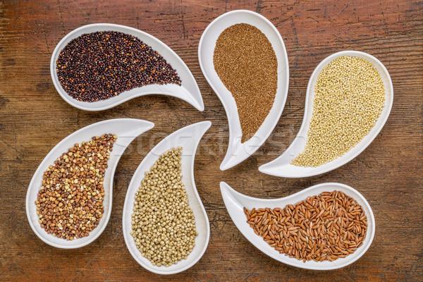 Gluténmentes gabona absztrakt felső kilátás alakú Stock fotó © PixelsAway