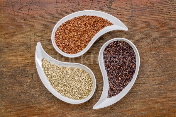 white, red and black quinoa grain Stock photo © PixelsAway