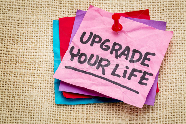 upgrade your life advice note Stock photo © PixelsAway