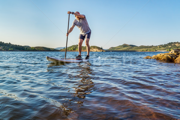 stand up paddling in Colorado Stock photo © PixelsAway