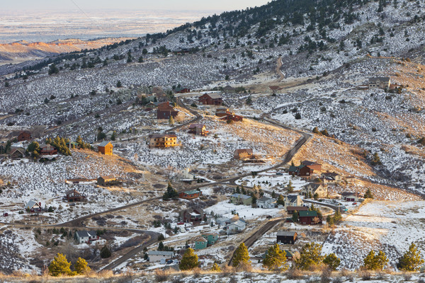 homes in Rocky Mountains, Colorado Stock photo © PixelsAway