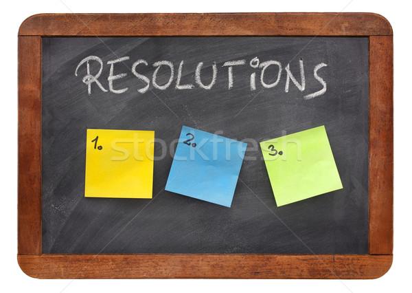 blank list of resolutions  Stock photo © PixelsAway