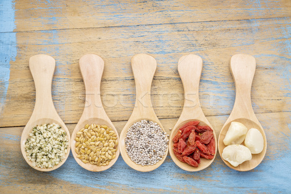 spoons of superfood abstract Stock photo © PixelsAway