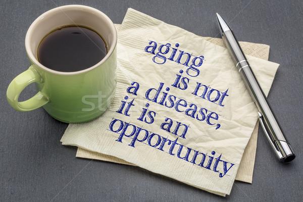старение не болезнь возможность почерк салфетку Сток-фото © PixelsAway