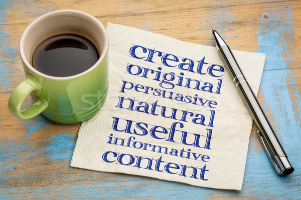 write original, useful, informative content Stock photo © PixelsAway