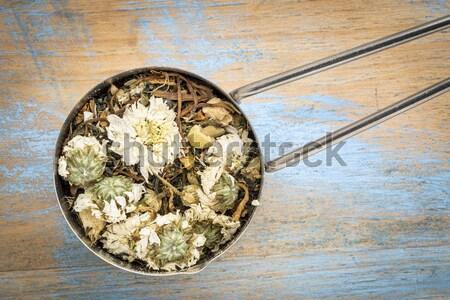 Vér anyagcsere tea mér merítőkanál gyógynövény tea Stock fotó © PixelsAway