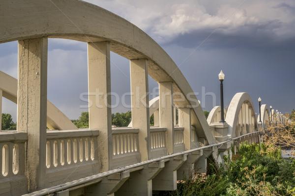 Concrete arch ponte meridionale fiume Rainbow Foto d'archivio © PixelsAway