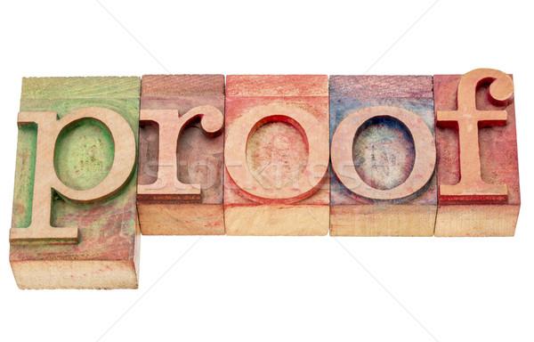 доказательство слово аннотация изолированный древесины Сток-фото © PixelsAway