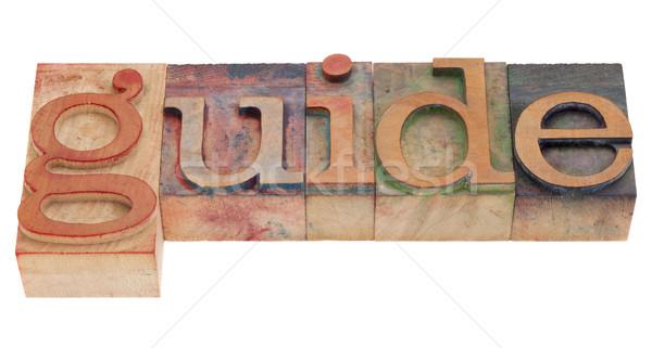 Photo stock: Guider · mot · type · vintage · bois