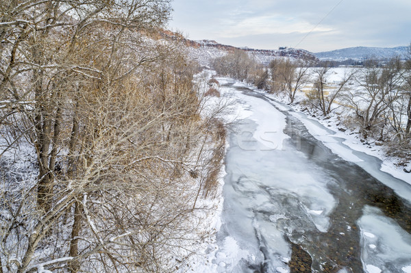 Poudre River above Fort Collins in winter scenery Stock photo © PixelsAway