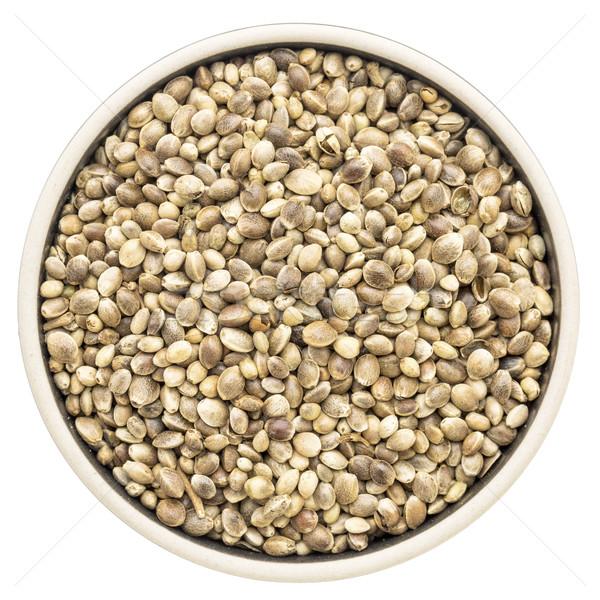 hemp seeds in a round bowl Stock photo © PixelsAway