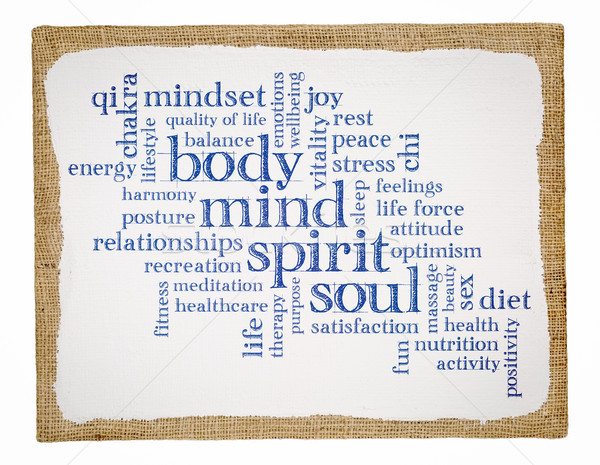 body, mind, spirit and soul word cloud  Stock photo © PixelsAway