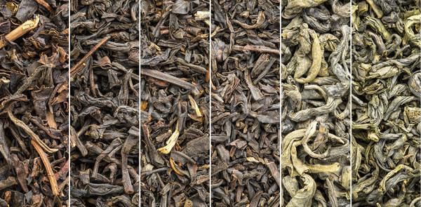 Historyczny czarny zielona herbata kolekcja sześć luźny Zdjęcia stock © PixelsAway