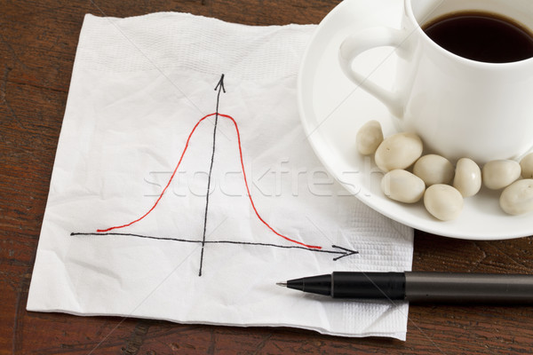 Gaussian (bell) curve Stock photo © PixelsAway