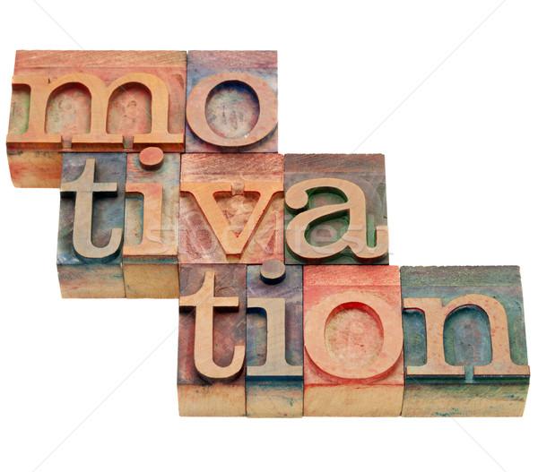 Motivatie woord type geïsoleerd abstract Stockfoto © PixelsAway