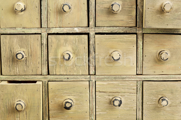 primitive apothecary drawer cabinet Stock photo © PixelsAway