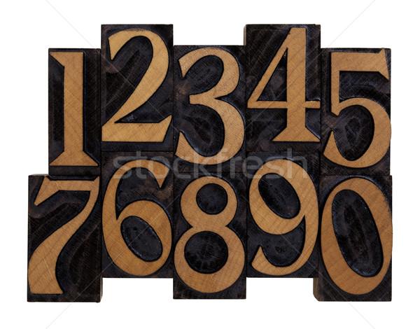 番号 ヴィンテージ 木材 10 アラビア語 ストックフォト © PixelsAway