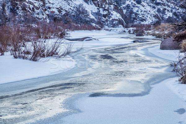 winter dusk over a river Stock photo © PixelsAway