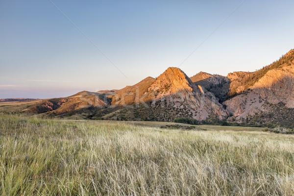 Eaglr Nest Rock at sunset Stock photo © PixelsAway