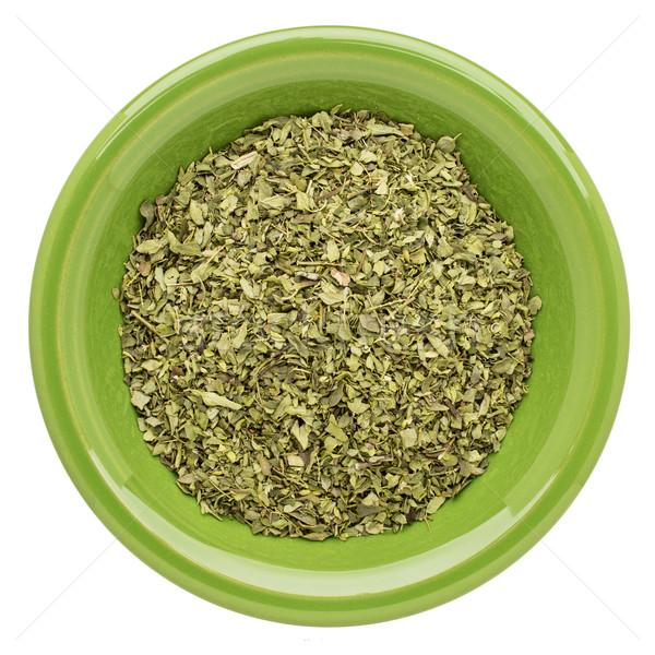 Organikus oregano levél izolált zöld kerámia Stock fotó © PixelsAway