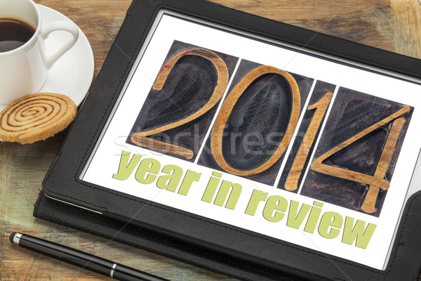 year 2014 in review Stock photo © PixelsAway