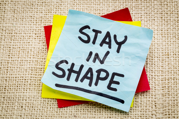 stay in shape reminder Stock photo © PixelsAway