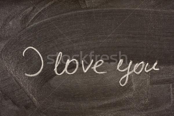 Szeretet iskola iskolatábla kézzel írott fehér kréta Stock fotó © PixelsAway