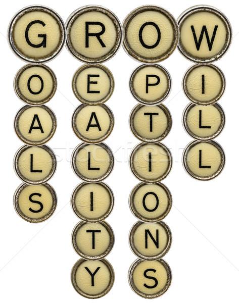 Stok fotoğraf: Büyümek · bulmaca · gerçeklik · seçenekleri · eski