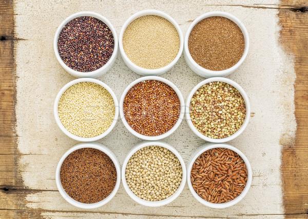 девять здорового коричневый риса Сток-фото © PixelsAway