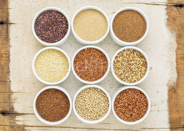 Nueve saludable sin gluten marrón arroz Foto stock © PixelsAway