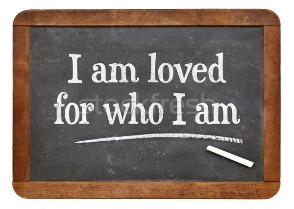 I am loved- positive affirmation words Stock photo © PixelsAway