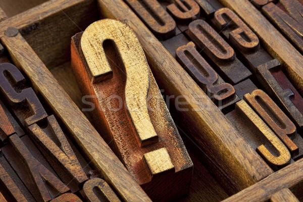 question mark in letterpress  wood type Stock photo © PixelsAway