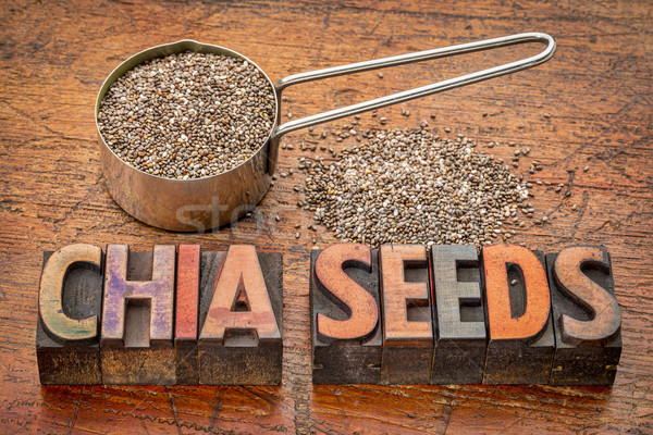 chia seeds typography Stock photo © PixelsAway