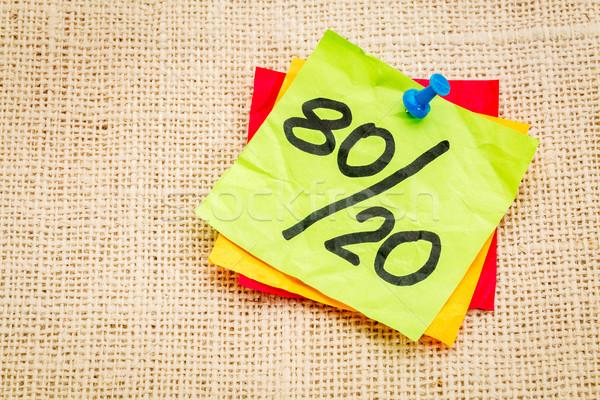 Alapelv öntapadó jegyzet szabály emlékeztető tanács papír Stock fotó © PixelsAway