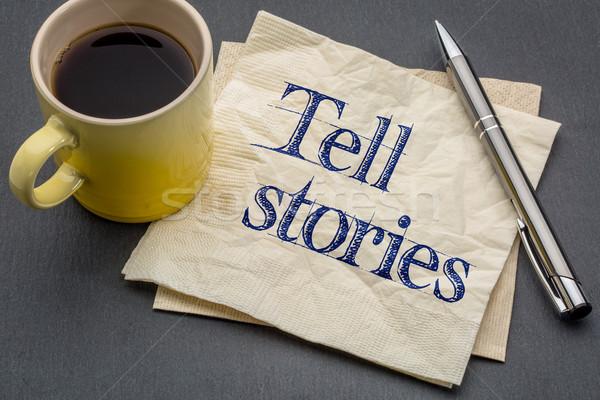 совет напоминание почерк салфетку Кубок кофе Сток-фото © PixelsAway