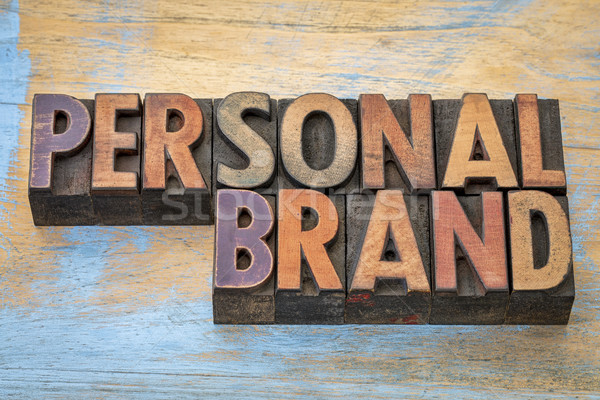 Personal brand in wood type Stock photo © PixelsAway