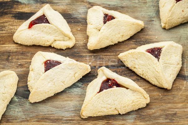 raspberry  hamantaschen pastry Stock photo © PixelsAway