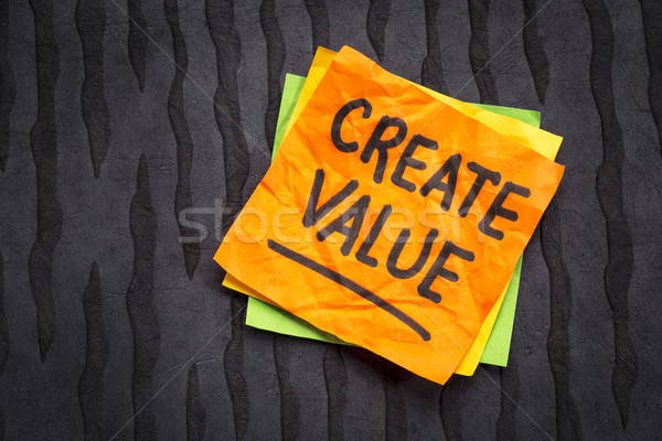create value reminder on sticky note Stock photo © PixelsAway