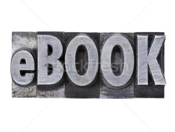 Ebook słowo metal typu odizolowany grunge Zdjęcia stock © PixelsAway
