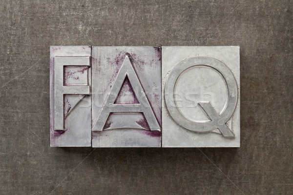 Souvent question faq questions acronyme texte Photo stock © PixelsAway