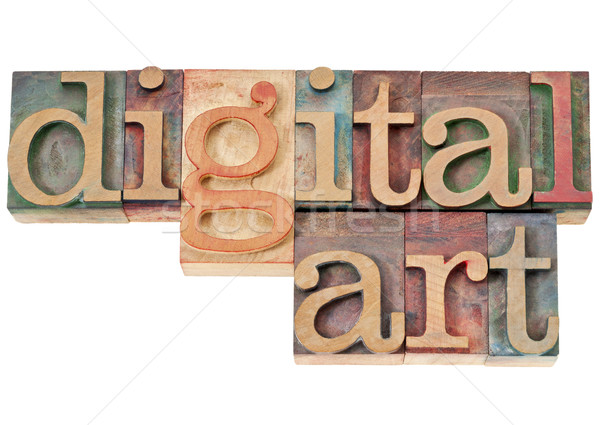 digital art in wood type Stock photo © PixelsAway