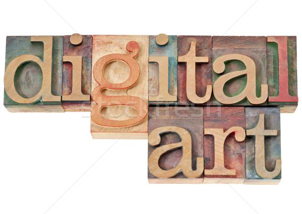 digital art in wood type Stock photo © PixelsAway