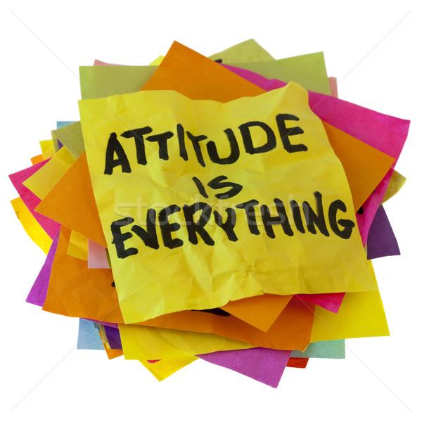 Hozzáállás motivációs jelmondat boglya színes emlékeztető Stock fotó © PixelsAway