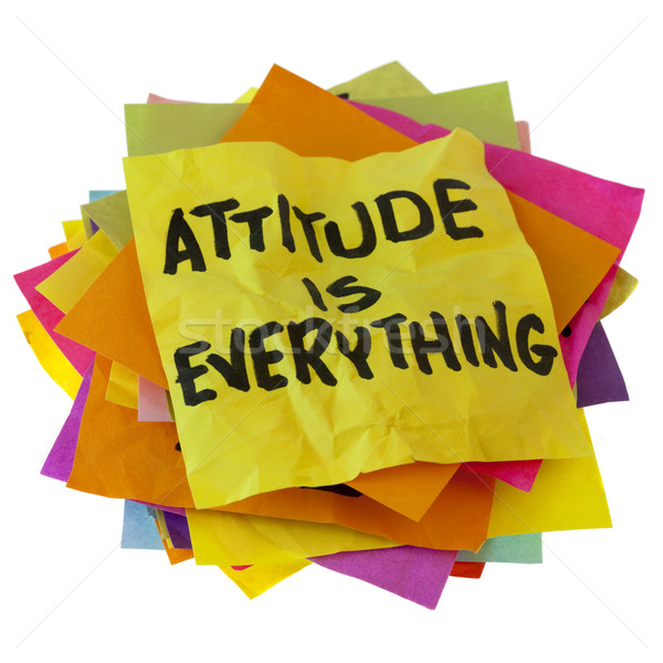 Atitude motivacional slogan colorido lembrete Foto stock © PixelsAway